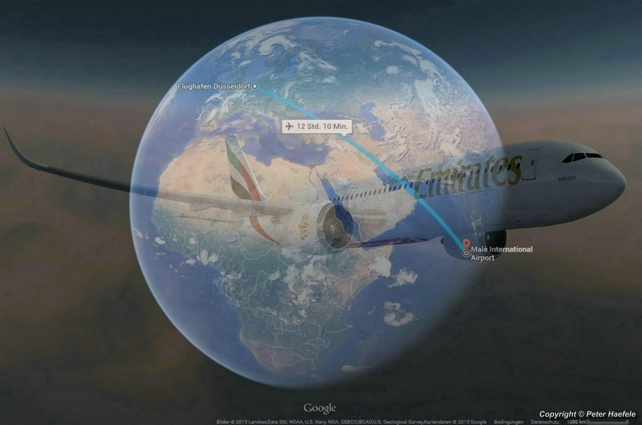 Mit einer Emirates Boeing 777-300er auf die Malediven - With an Emirates Boeing 777-300er to the Maldives