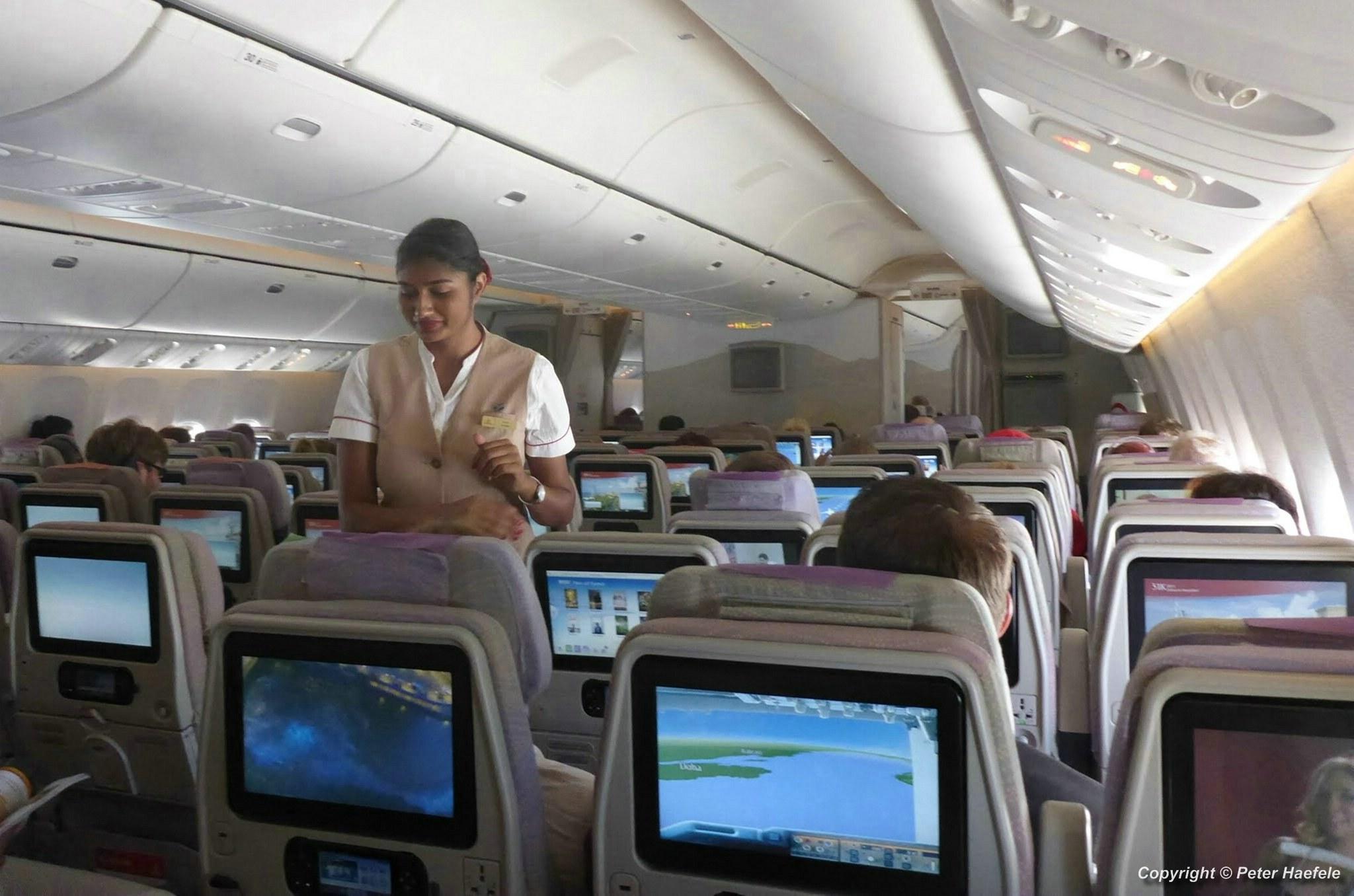Innenansicht Emirates Boeing-777-300ER - Interior view of Emirates Boeing 777-300ER