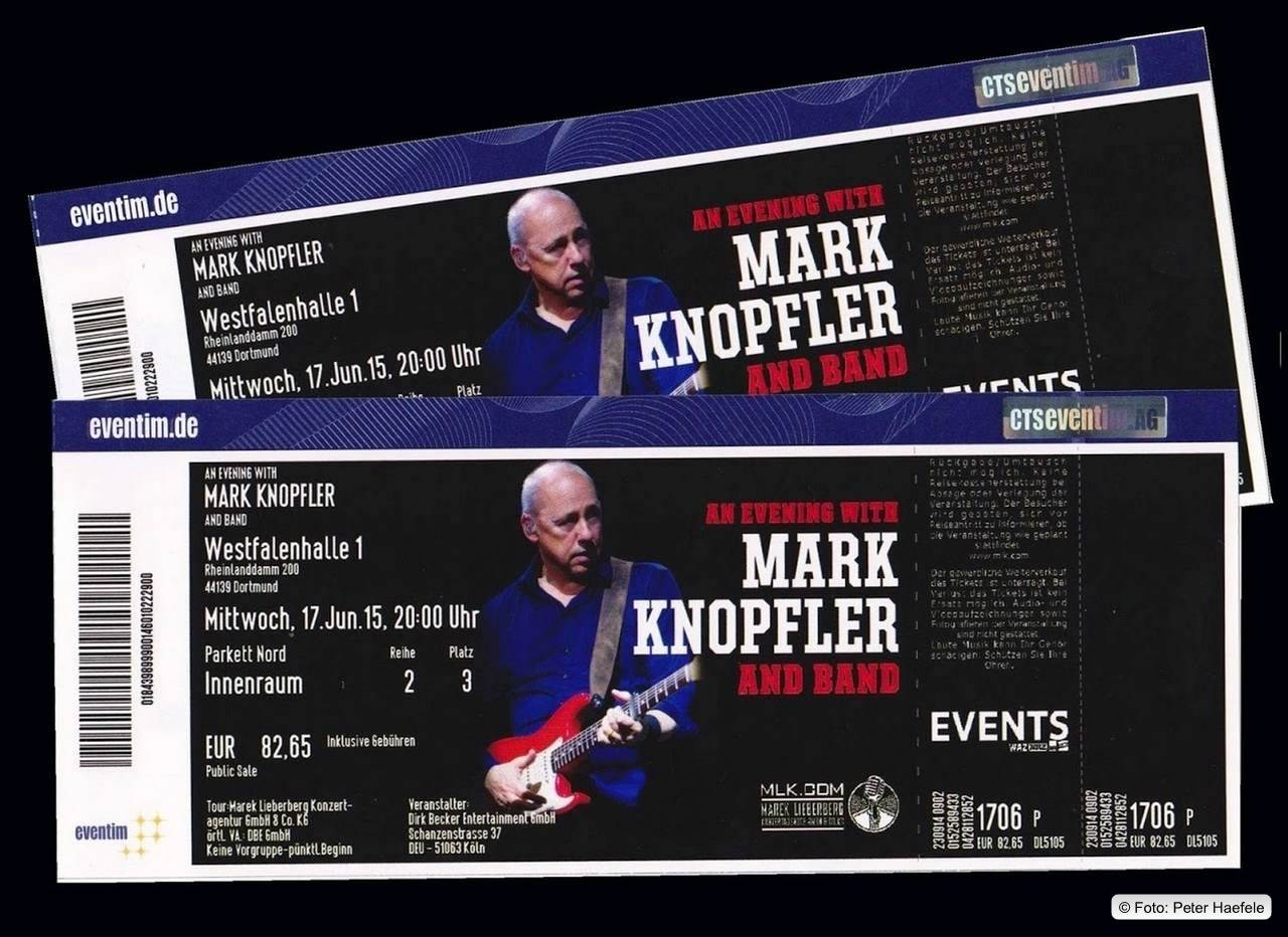 Tickets, An Evening with Mark Knopfler  and Band